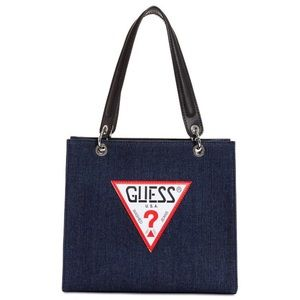 Guess denim logo bag
